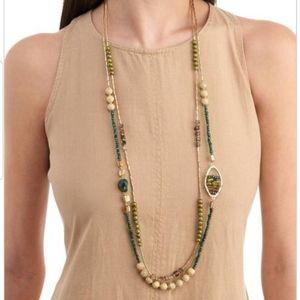 Zevar by Treska beaded long necklace